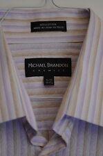 Michael Brandon Chemise Or Men's Shirt Size XL 17-17.5 Spread Collor Cotton