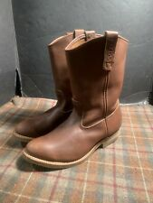 Red Wing 1155 Pecos Brown Leather Pull On Work Boots Sz 10 E3 Mens Extra Wide