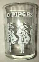 100 Pipers Short Shot Glass Clear White Bagpipes Celebration Party Drink Alcohol