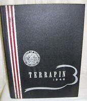 1946 University of Maryland Yearbook Terrapin