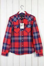 Camicie casual e maglie da uomo rossi Lee in cotone