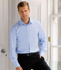 Men's Regular Button Cuff No Pattern Polyester Formal Shirts
