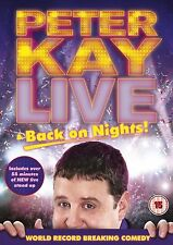 PETER KAY LIVE STAND UP COMEDY SHOW BACK ON NIGHTS NEW AND SEALED UK R2 DVD