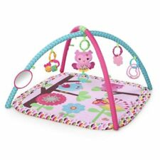 New Bright Starts Pretty In Pink Activity Baby Gym, Charming Chirps