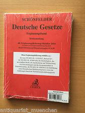 SCHÖNFELDER Deutsche Gesetze Textsammlung Ergänzungsband 44. EL 2014