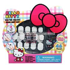 Hello Kitty* 46pc Water Magic Nail Art Kit Stickers+Gems+Polish Bottle (Boxed)