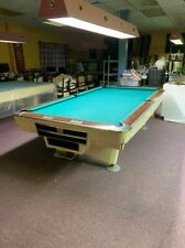 Brunswick Gold Crown I Pool Table 9 FOOT Regulation Size White Billiard Vintage