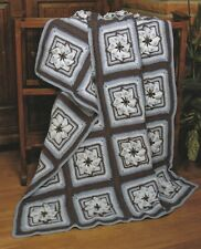 Crochet Pattern ~ Pretty Pinwheels Afghan ~ Instructions