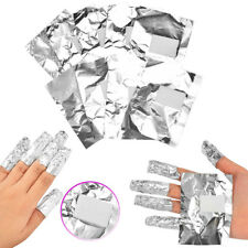 100x Uv Gel Removal Foils With Pads Shellac Nail Art Acrylics Soak Off Wraps FGJ