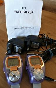 Montres talkie-walkie ITT Freetalker - portée 2,5 km