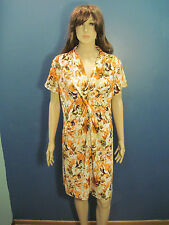 Xl multi-colored Floral Sparkly Collared dress by Brittany Black
