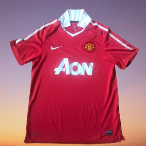 Manchester Utd 2010-2011 Home Shirt Aon Man Utd Nike - Medium