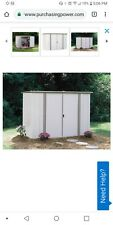 arrow 8x3 ft garden shed eggshell/taupe