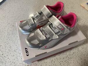 Louis Garneau Jade Womens Road Cycling Shoes 39EU 7.5US 4.5UK Wht/grey/pink New