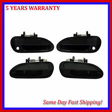 For Honda Accord 1998-2002 Smooth Black Outside Door Handle New Set of 4PCS