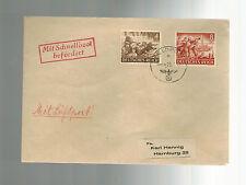 1944 Occupé Jersey Poste Aérienne Feldpost Housse à Allemagne via E Bateau