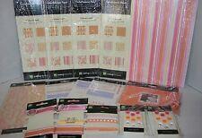 Lot Making Memories Scrapbook Kit Simply Fab Orange Pink Yellow Paper Stickers