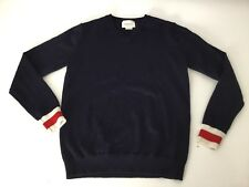 Gucci V Neck Navy Jumper Web 100% Lana Wool Age 8 Years WORN ONCE immaculate