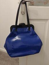 Lulu Guinness Large Cobalt Blue Patent Leather Pollyanna Bag