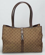 GUCCI *MADE IN ITALY* BROWN SIGNATURE CANVAS TOTE SHOULDER BAG :)