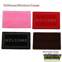 Mat Dollhouse Miniature Carpet 1/12 Scale Doormats Rooms Floor Accessories