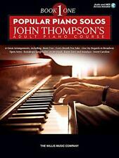 Popular Piano Solos: John Thompson's Adult Piano Course - Book 1 by Various, NEW