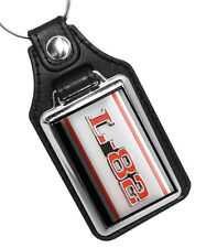 L82 CHEVROLET CORVETTE CAR EMBLEM FAUX LEATHER KEY RING KEYCHAIN MADE IN USA