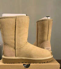 UGG CLASSIC SHORT II 1016223 SAND SIZE 9, WOMAN'S BOOTS AUTHENTIC BRAND NEW**