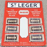 St Ledger Razor Blades Shop Display Card Counter Top Point of Sale Advertising