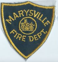 Marysville Fire Department patch 4-3/8 X 4