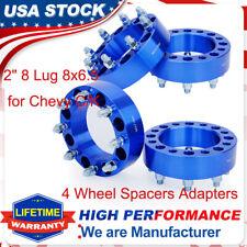 4 2'' 8 Lug Wheel Spacer Adapters 8x6.5 For Chevy C/K 2500/3500 GMC Yukon Nissan