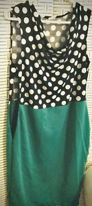 Polka Dress Woman Size 10 Sleeveless ( In Green and Also In Red )
