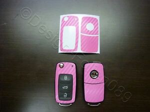 Carbon Pink Schlüssel Touran Polo Passat V VI 6N Golf 4 5 6  GTI RS R Sharan uvm