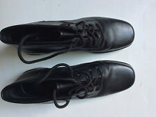 Markon  Black Leather Ankle Boots Size 10M  Style: Sallie - 2 inch chunky heels