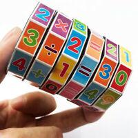 Plastic Cylindrical Mathematics Cube Children Kids Math Educational Toys