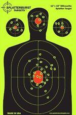 10 Pack 12x18 Silhouette Splatterburst Target