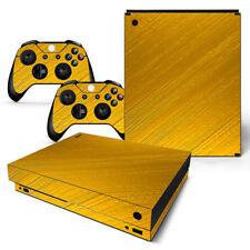 Xbox One X Skin Design Foils Sticker Screen Protector Set - Gold Motif