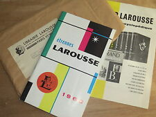 Catalogue illustré livres Étrennes Larousse 1960 Dictionnaires Collections Atlas