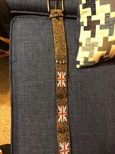 Mens Medium UK England Studded Belt
