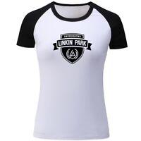 RIP Rock Band Linkin Park Womens Girls T-shirts Casual Print Graphic Tops Shirts