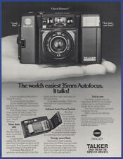 Vintage 1984 MINOLTA 35mm Talking Camera Talker Film Photography Print Ad 80's