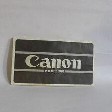 Canon FD camera Products Guide Brochure 1970's Accessory list AE-1 O40742