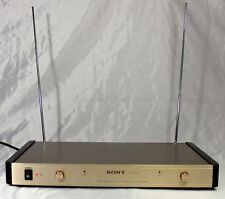 SONY MH-999 Cordless Mic 2 Channel VHF Receiver  w/ Wind Noise Reduction System