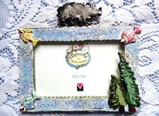 Blue Sky Clayworks Picture Frame ~ Bear Fish Trees