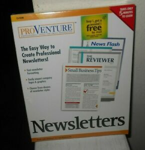 PROVENTURE NEWSLETTERS (1998) New Sealed Quick Learn CD-ROM Ships Free