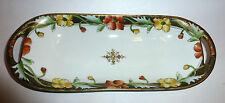 "Antique 1890's Nippon Hand Painted Porcelain 11-5/8"" Long Dish Maple Leaf  Mark"