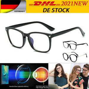 Blaulichtfilter Brille Frau Mann Computer Brille PC Brille -  ohne Sehstärke NEW