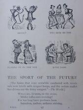 Lawn tennis thème le sport du futur antique punch Cartoon