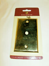 Baldwin Estate 4764.030.Cd Cable Cover Switchplate Solid Brass New