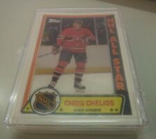 1989 Topps Hockey Sticker 33 Card Set w/Chris Chelios 092217jh